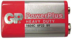 GP Batteries Power Plus 9V Super Heavy Duty Batteryy - Date June, 2016