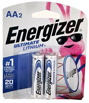 Energizer L91 AA Ultimate Lithium Battery 2 pack AA