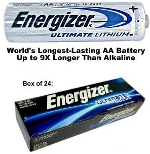 Energizer L91 AA Ultimate Lithium 1.5 Volt Battery, Exp. 2036 - Boxed AA