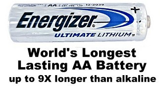 Energizer L91 AA Ultimate Lithium 1.5 Volt  Battery, Exp. 12-2036 - Bulk Pack AA