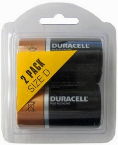 Duracell MN1300 D, 2 Pack Duralock - in Reusable Plastic Pack