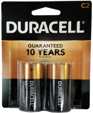 Duracell MN1400B2 C Size Battery,  2 pack USA Retail Packs 3-2027 Date