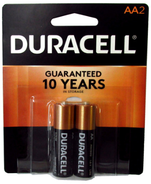 Duracell MN1500B2 AA Size Battery 2 pack USA Retail Packs AA, Exp. 3 - 2027
