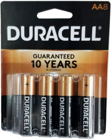 Duracell Coppertop AA 8 Blister Pack AA