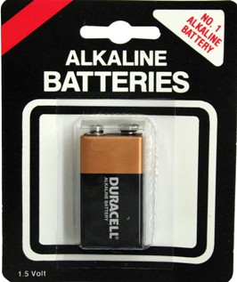 Duracell MN1604 9 Volt - 1 on Generic Blister Card