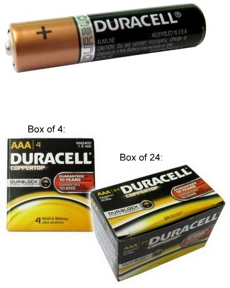 "Duracell Duralock MN2400 AAA Size Alkaline Battery, Boxed, USA, ""2025"" Date AAA, Exp. 12 - 2025"