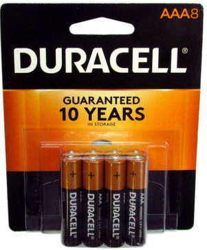 Duracell Coppertop AAA 8 Blister Pack AAA Made in USA