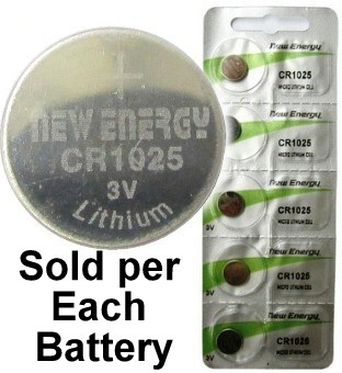 New Energy CR1025 3V Lithium Coin Cell, on Card