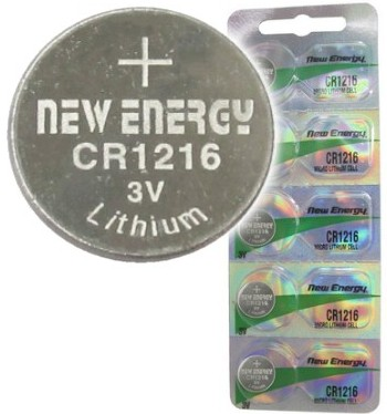 New Energy CR1216 3V Lithium Coin Cell, on Card