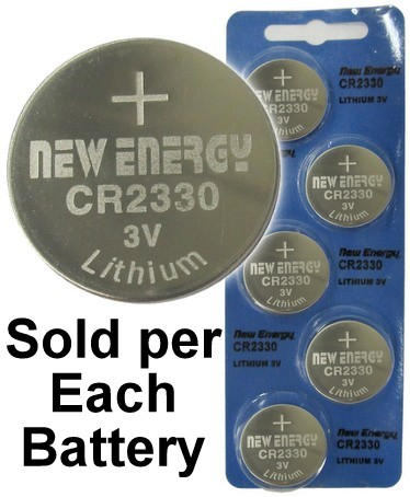 New Energy CR2330 3V Lithium Coin Cell, on Card