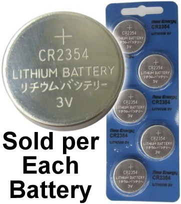 New Energy CR2354 3V Lithium Coin Cell, on Card