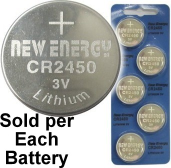 New Energy CR2450 3V Lithium Coin Cell, on Card