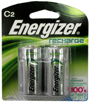 Energizer 2500mAh C Size Ni-MH Rechargeable Battery 2 pack