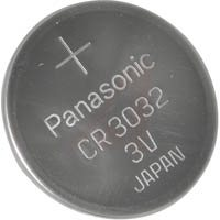 Panasonic CR3032 3V Lithium Coin Size Battery, Tray Pack