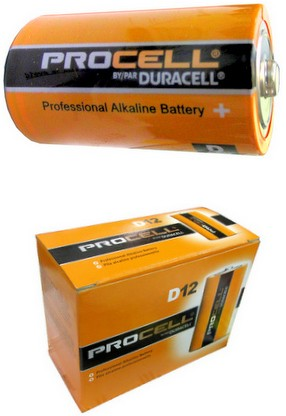 """Duracell PC1300 Procell D Size Alkaline Battery, Made in the USA """"3-2023"""" Date"""