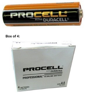 Duracell PC1500 Procell AA Size Alkaline Battery, Boxed. Made in China, Orange Jacket 3/2023 Date AA