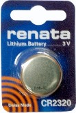 Renata CR2320 (BR2320) 3 Volt Lithium Coin Battery