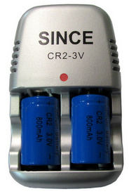 Since CR2-3V Battery Charger with 2 CR2 Li-Ion Batteries