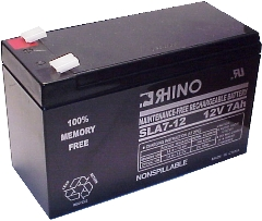 SLA-7-12/T25, Rhino 12V 7Ah Sealed Lead Acid Rechargeable Battery