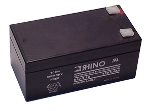 SLA3-12, Rhino 12V 3.4AH Sealed Lead Acid Rechargeable Battery