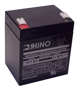 SLA4-12, Rhino 12V 4.5AH Sealed Lead Acid Rechargeable Battery (Replaced by SLA5-12)