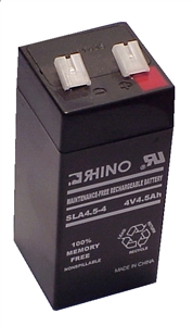 SLA4.5-4, Rhino 4V 4.5Ah Sealed Lead Acid Rechargeable Battery