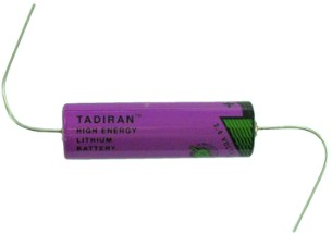 Tadiran TL-5903/P AA 3.6 Volt, 2.4Ah Lithium Battery, with Axial Leads AA