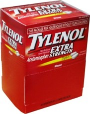 Tylenol Extra Strength - Pain Reliever, Fever Reducer. Box of 50 2-Pack Caplets