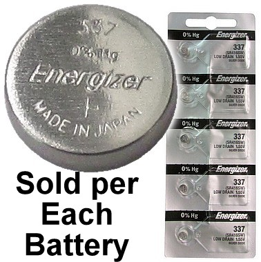 Energizer 337 (SR416SW) Silver Oxide Watch Battery, On Tear Strip