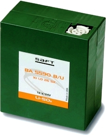 Saft BA-5590 B/U w/CDD 12 Volt LiSO2  Military Radio Battery