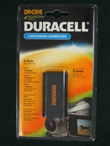 Duracell DR-C915 7.2 Volt 1800mAh Lithium Ion Battery for Canon