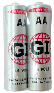 G.I. AA Size Heavy Duty Batteries in Shrink Wrap - 2-Pack AA