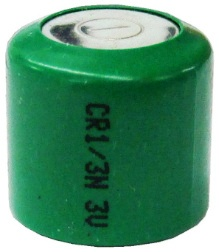 GI Green Photo Lithium CR1/3N, 3V, 170mAh Green Jacket Battery, Bulk Pack