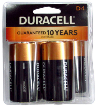 Duracell Batteries D size Battery MN1300 4 pack Retail Packs