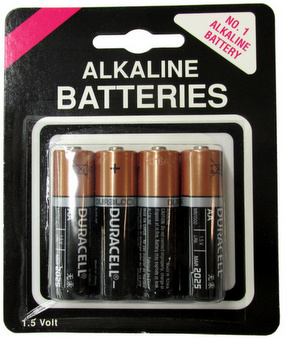 Duracell MN1500 AA 4 Pack on Generic Blister Card AA