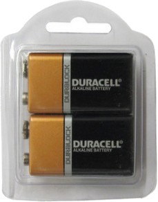 Duracell MN1604 9 Volt - 2 Pack  in Reusable Plastic Pack