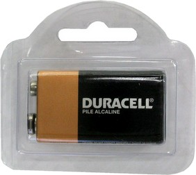 Duracell MN1604 9 Volt - One in Reusable Plastic Pack