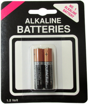 Duracell MN2400 AAA 2 pack on Generic Blister Card AAA