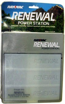 Rayovac Renewal Power Station Charger ONLY for Renewal Alkaline - Charges up to 8 D, C, AA or AAA