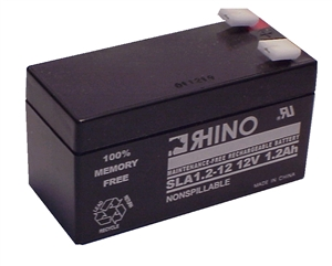SLA1.2-12, Rhino 12V 1.2AH Sealed Lead Acid Rechargeable Battery