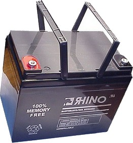 SLA55-12, Rhino 12V 55.0Ah Sealed Lead Acid Rechargeable Battery