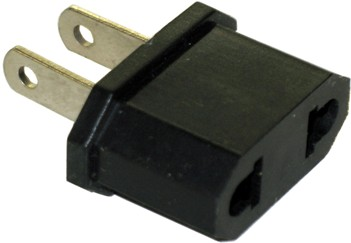 SS401 US Plug #MS7 -- To Plug Round Pin Plugs into Flat Pin Outlets