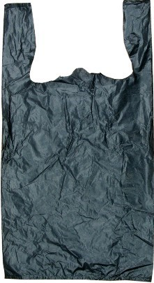 "Strong Black Grocery Bag 12"" x 6"" x 21"" 24MC - 150 Pack"