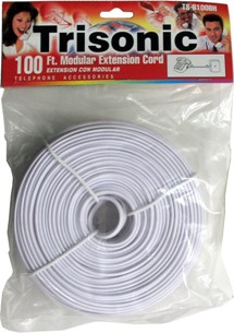 Trisonic TS-8100BH 100 Ft. Modular Extension Cord, Ivory