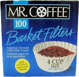 MR. COFFEE Filter 100 Box for cup size 4