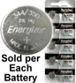 Energizer Batteries 344 / 350 (SR1136W, SR1136SW) Silver Oxide Watch Battery. On Tear Strip