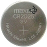 Maxell CR2025 3 Volt Lithium Coin Battery Tray Pack