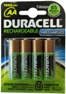Duracell DX1500 1950mAh AA NiMH Pre-Charged Rechargeable Battery 4 Pack