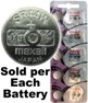 Maxell Hologram SR44W (357) Silver Oxide Watch Battery On Hologram Tear Card