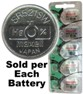 Maxell Hologram SR521SW (379) Silver Oxide Watch Battery. On Hologram Tear Card, Exp. 2 - 2020